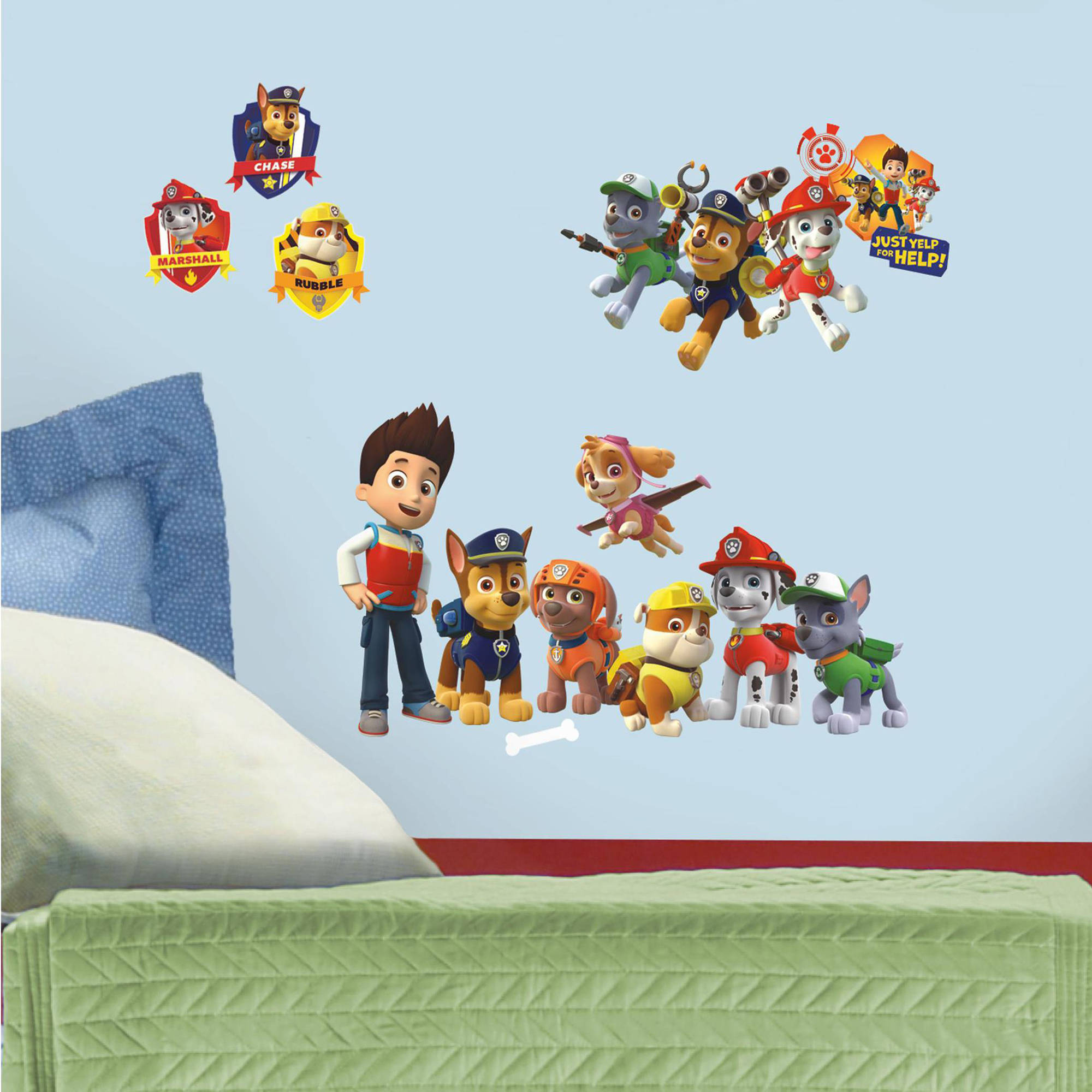 Gentil Paw Patrol Peel And Stick Wall Decals