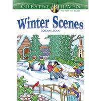 Creative Haven Winter Scenes Coloring Book