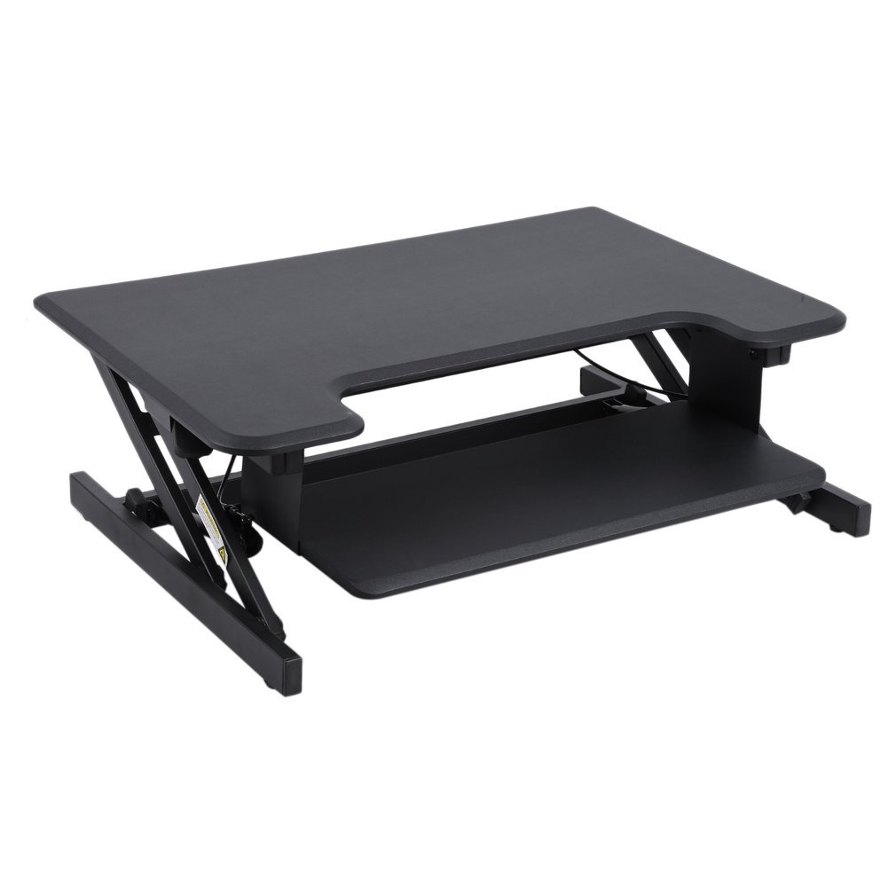 Standing Desk Height Adjustable Sit To Stand Up Desk Riser | 32 In Wide  Fits 2