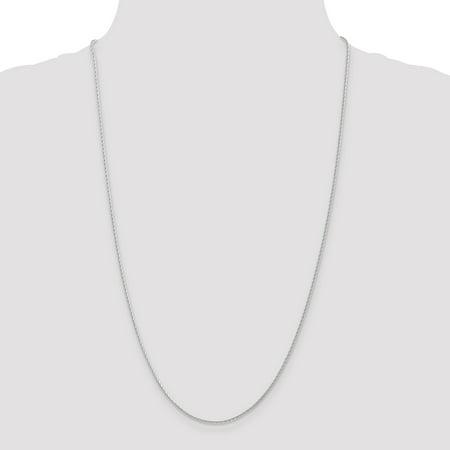 14K White Gold 1.5mm Round Diamond Cut Wheat Chain 16 Inch - image 3 of 5