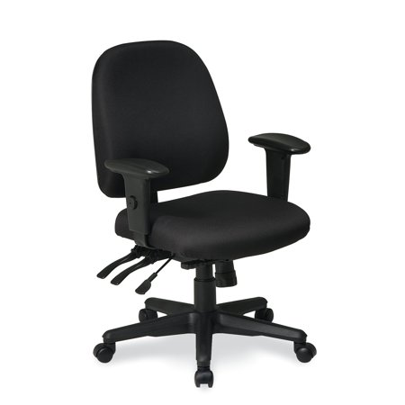 75 Office Star - Office Star Work Smart Ergonomics Chair with Ratchet Back and Multi Function Control