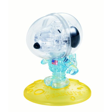 Original 3D Crystal Puzzle - Astronaut Snoopy