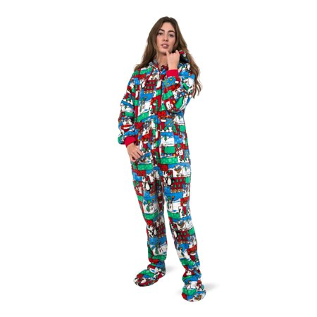 Ugly Christmas Sweater One Piece Sleeper Footed Pajamas with Rear Flap Size  - image 1 of ... a74ec69bd