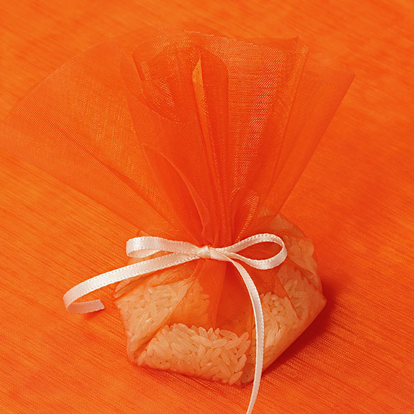 "10"" Orange Organza Circle Wrap 