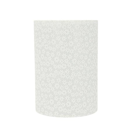 Aspen Creative 31127 Transitional Drum (Cylinder) Shaped Spider Construction Lamp Shade in White, 8