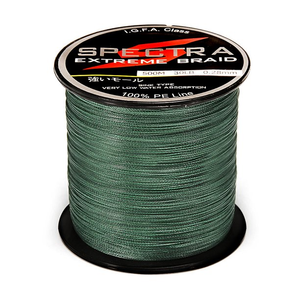 100 Pe Plastic Braided Fishing Line 20lb Test Moss 0 23mm Diameter 500m Length Blackish Green 0