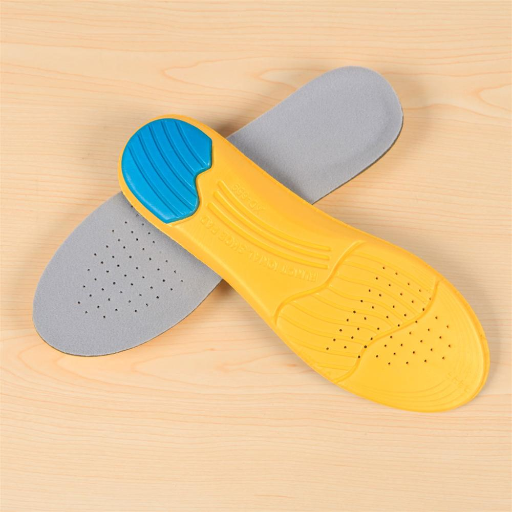 Topeakmart Unisex Memory Foam Shoes Insoles, Anti-skidding,Shock-Absorbing and depressurizing Arch Supports Athletic Insoles Pads Inserts Pain Relief Cuttable