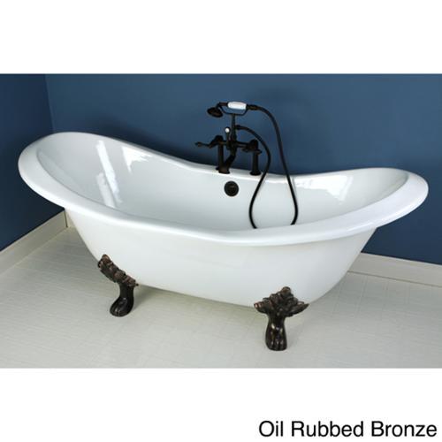 Kingston Brass Double Slipper 72-inch Cast Iron Clawfoot Bathtub