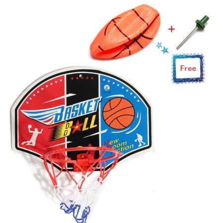 Mini Hoop Backboard Net Set with Basketball Sports Game Toy Gift For Kids Children(Model Random) (Room Basketball Hoop)