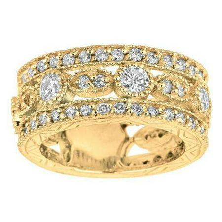 Harry Chad Enterprises 15203 2.08 CT Round Brilliant Diamond Yellow Gold Eternity Band Ring - image 1 of 1