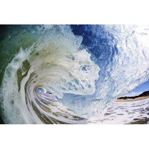 TrekDecor Rinse Cycle Ocean Wave Sublimated Metal Photographic Print