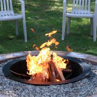 Sunnydaze 33 Inch Outside x 27 Inch Inside Fire Pit Ring/Liner, DIY Above or In-Ground, Durable Steel
