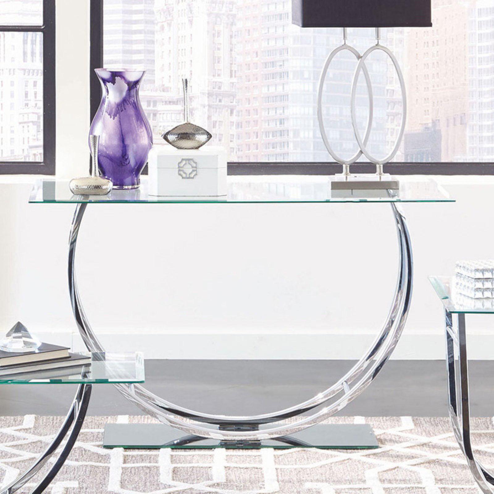 Coaster Company Sofa Table, Chrome