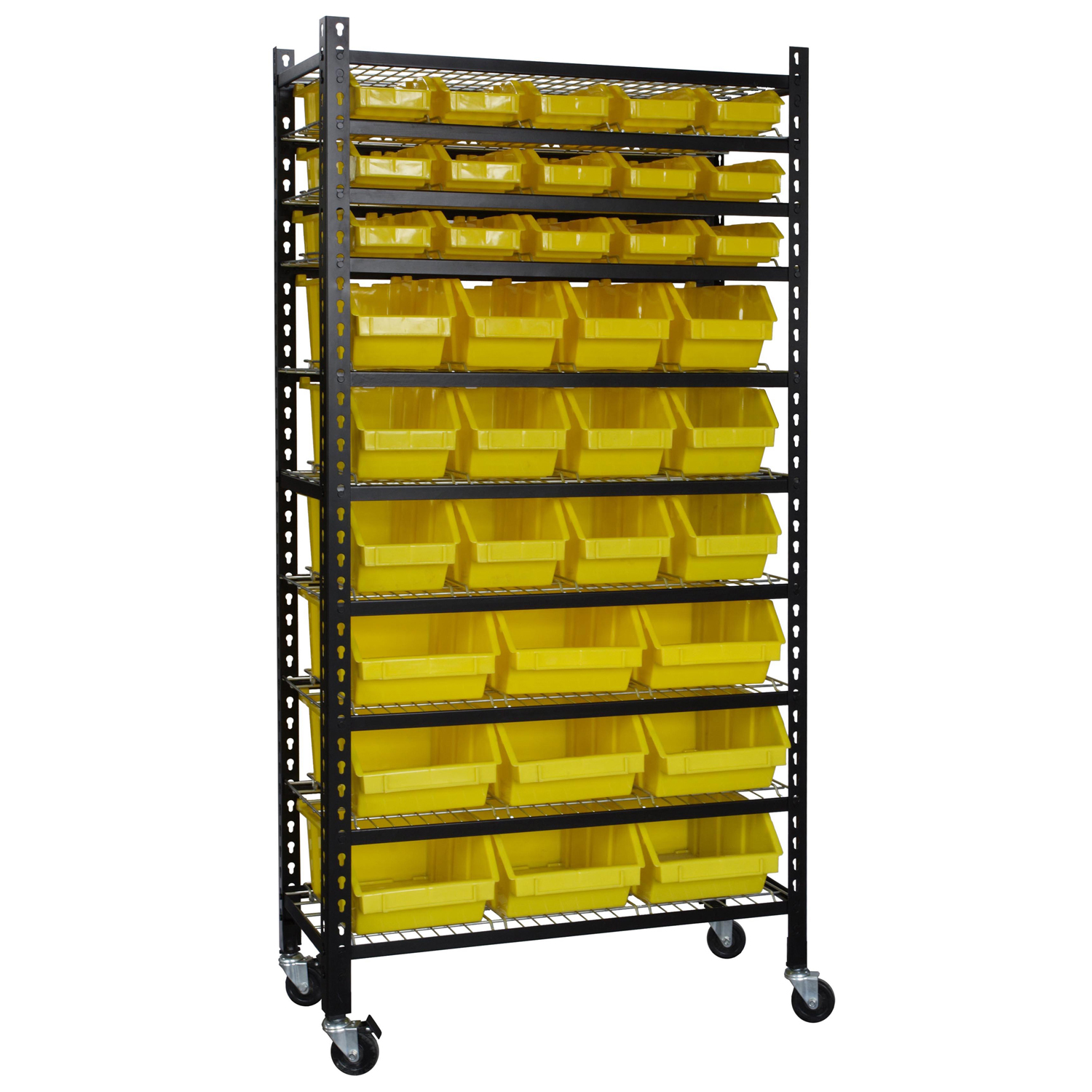 Mobile Bin Shelving Rack