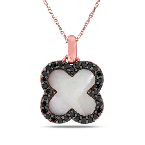 Amour Singapore-chain Fancy-cut Created Opal Gemstone and Round-cut One Carat of Diamond Pendant