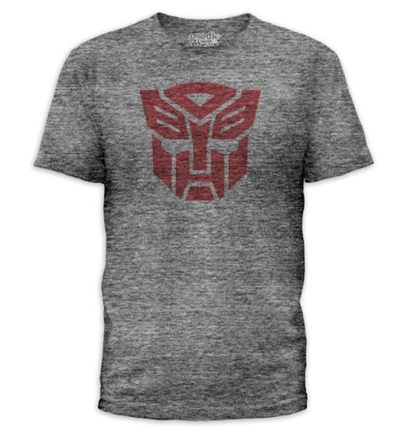 Goodie Two Sleeves Transformers Autobots Logo Adult Heather Gray T
