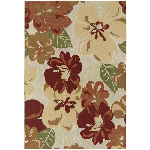 Couristan Dolce Novella Indoor/Outdoor Rug, Rosebud
