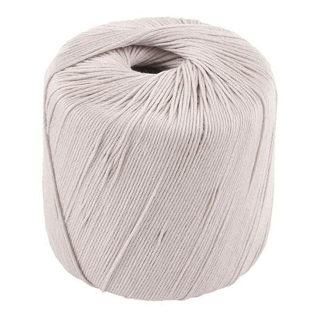 Cotton Yarn Crochet Thread (Off White Cotton DIY Embroidery Cross Stitch Crochet Lace Knitting Yarn Thread )