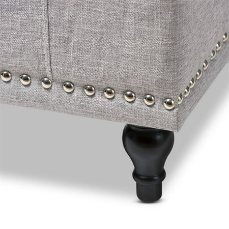 Hawthorne Collection Storage Bench in Grayish Beige - image 3 of 8