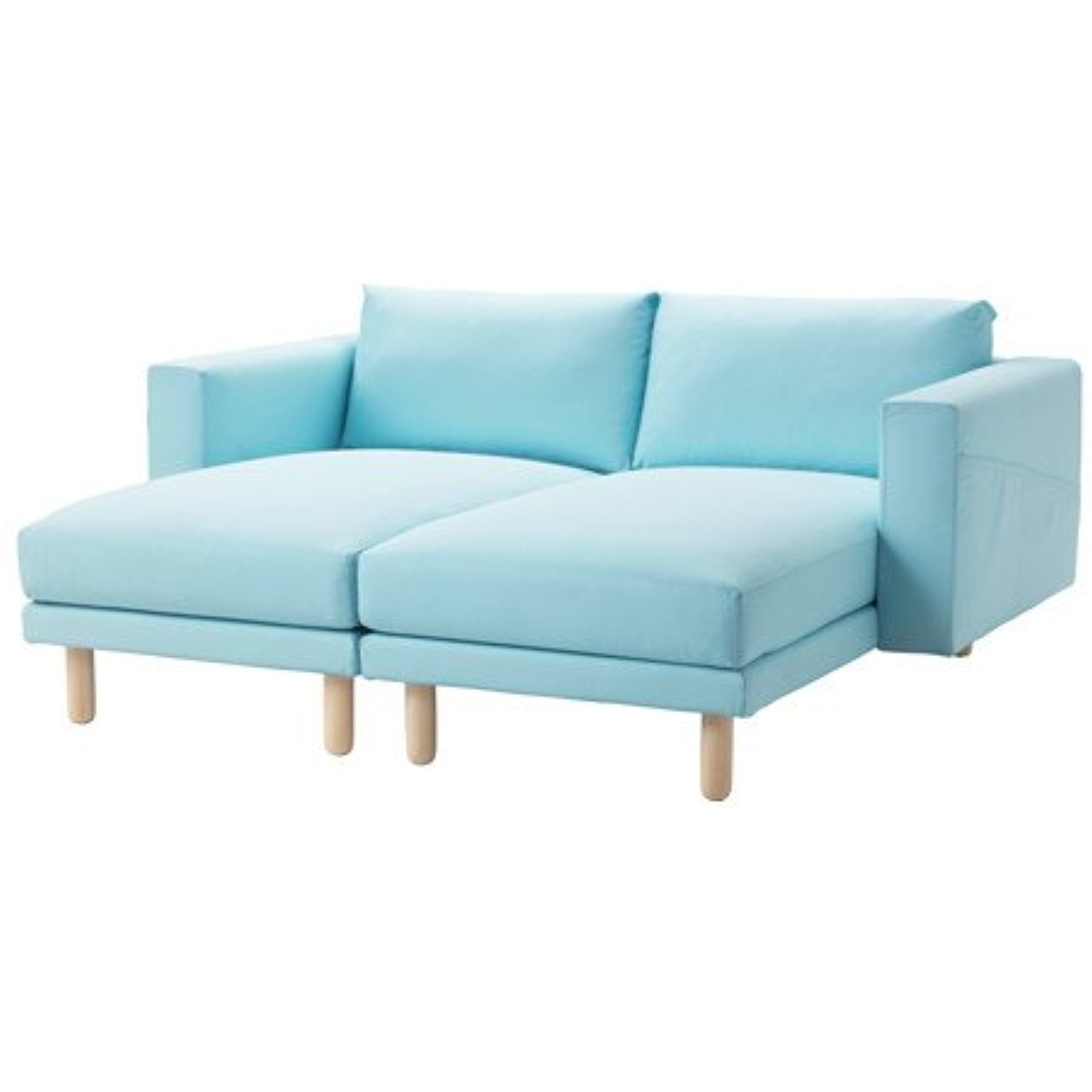 Ikea Sectional 2-seat Edum light blue brich 16204.81714.2222  sc 1 st  Walmart : smaller sectionals - Sectionals, Sofas & Couches