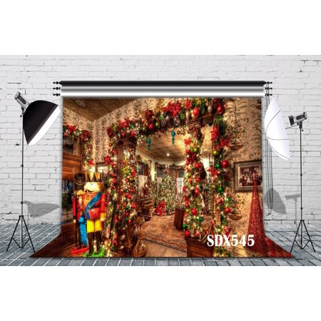 GreenDecor Polyster 7x5ft Christmas Party Decor Photography Backdrops Studio Background Photo Backdrop Props