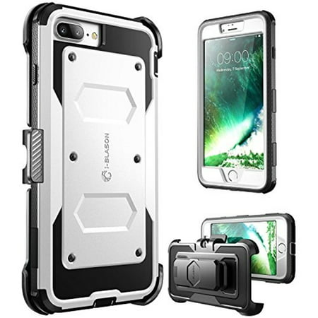 i-Blason ArmorBox Dual Layer - Protective case for cell phone - rugged - polycarbonate, thermoplastic polyurethane (TPU) - white - for Apple iPhone 7 Plus