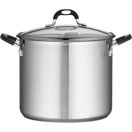 Tramontina Stainless Steel 12 Quart Covered Stock Pot