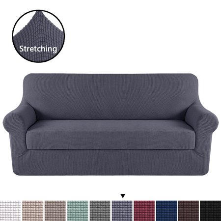 Phenomenal 2 Pieces Skid Resistance Furniture Protector Jacquard Spandex Couch Covers Fitted Sofa Protector Cover Stretch Sofa Slipcovers Grey Xl Sofa Ncnpc Chair Design For Home Ncnpcorg