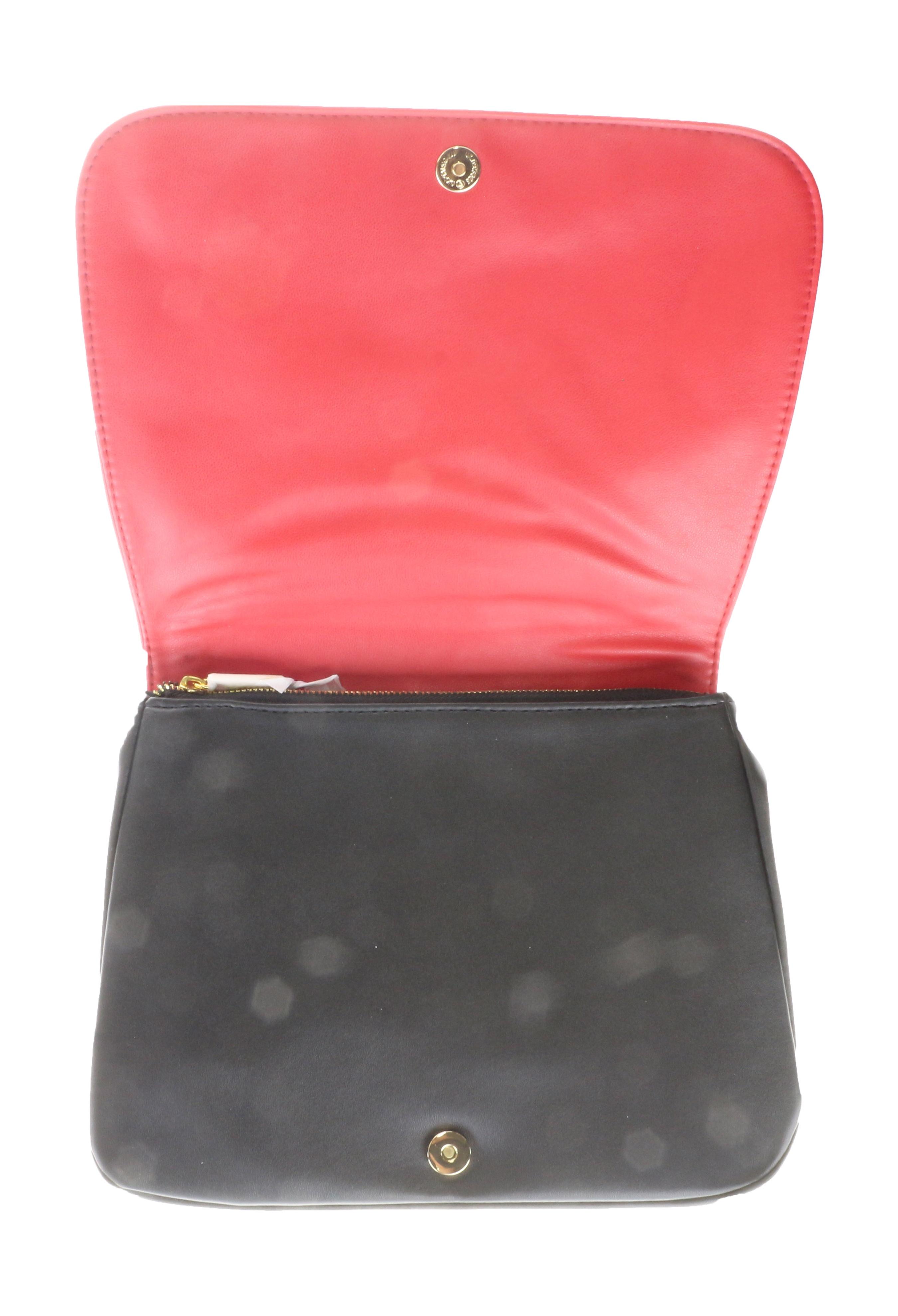 e2a2d08e3a Fan Di Fendi L Acquarossa Red Black Faux Leather Trousse Pouch (9