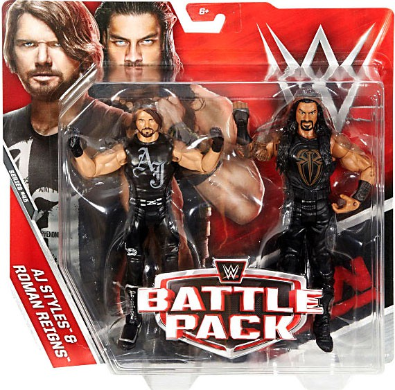 WWE Wrestling Series 45 AJ Styles & Roman Reigns Action Figure 2-Pack