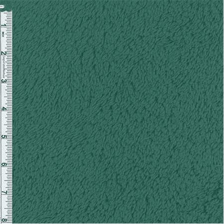 Spruce Green Thermal Shaggy Hi-loft Fleece, Fabric Sold By the Yard