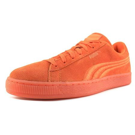 7fdd11fffe2a Puma - Puma Suede Classic Badge Iced Men Round Toe Suede Orange Sneakers -  Walmart.com