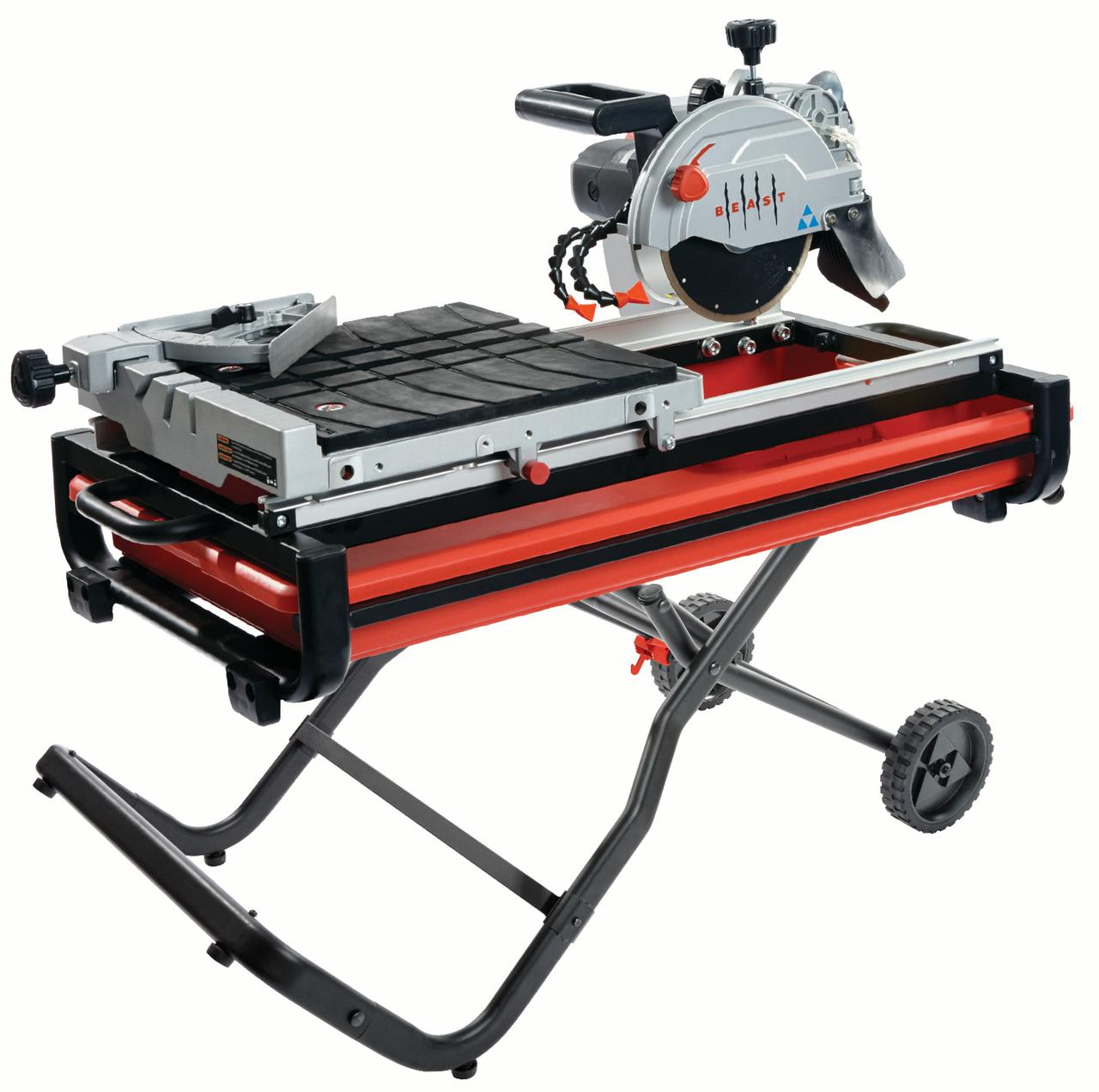 "7"" Wet Tile Saw Kit w/Gravity Folding Stand"