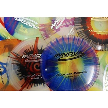 Champion I-dyed Monarch Disc Golf Disc (Assorted Colors) (One Disc), Speed: 10 Glide: 5 Turn: -4 Fade: 1 By Innova