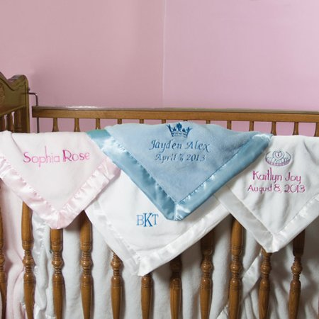 how to make a baby blanket with satin trim