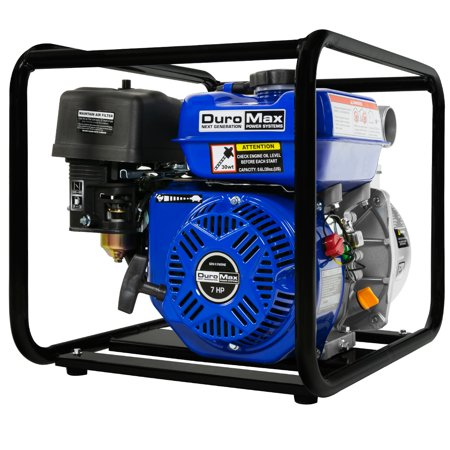 "DuroMax Portable 2"" Water Pump 7.0 Hp Gasoline Engine"