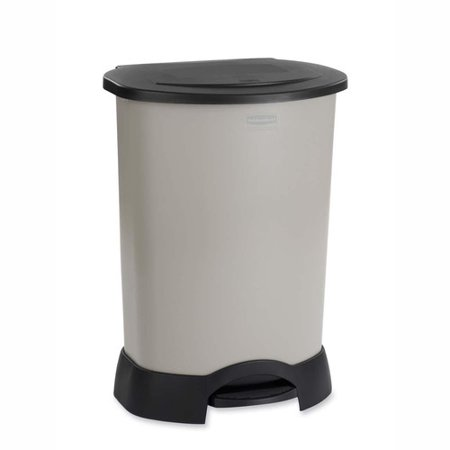 rubbermaid container 30 gallon step on trash can. Black Bedroom Furniture Sets. Home Design Ideas