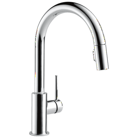 Delta Trinsic Single Handle Pull-Down Kitchen Faucet in Chrome 9159-DST Delta Signature Pull Out Spray