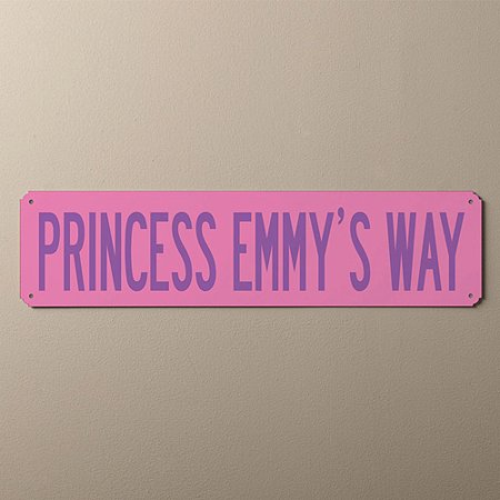 Personalized You Name It Street Sign, Pink and Purple - Personalized It