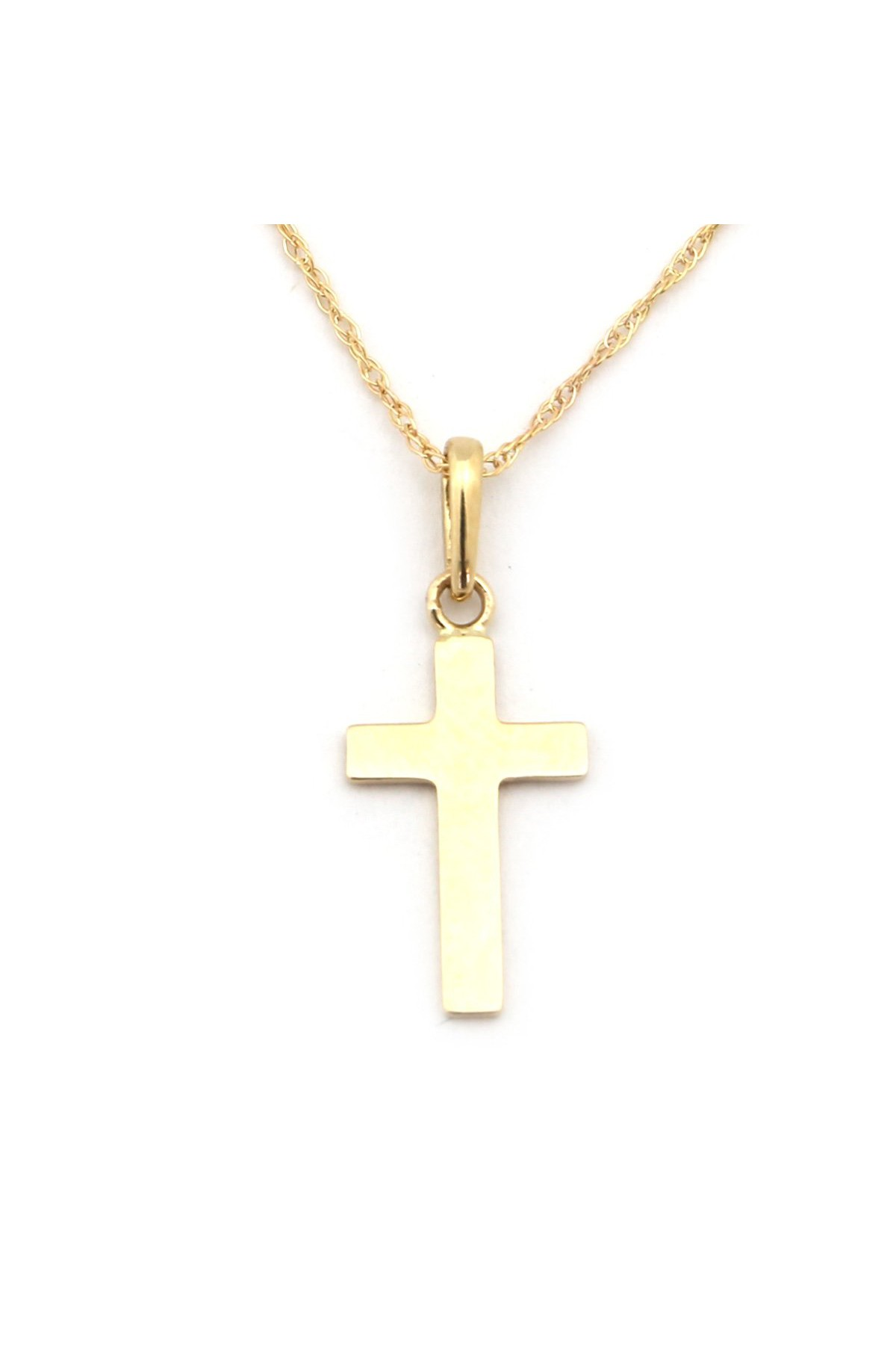 14k Yellow Gold Polished Small Toy Train Pendant