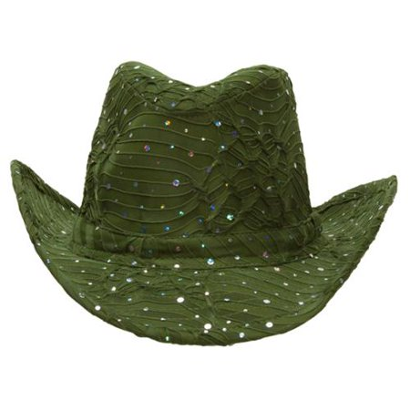 Red White And Blue Cowboy Hat (Glitter Sequin Trim Cowboy)