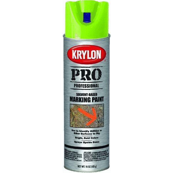 Krylon 17 Oz APWA Green Solvent Based Contractor Marking Spray Paint (Set of 6)