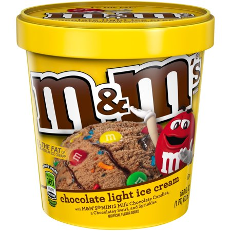 Ice Cream Mini Button - M&M's® Chocolate Ice Cream 16 oz. Tub