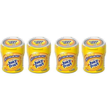 - (4 Pack) Juicy Fruit, Sugar Free Fruity Chews Original Chewing Gum, 40 Ct