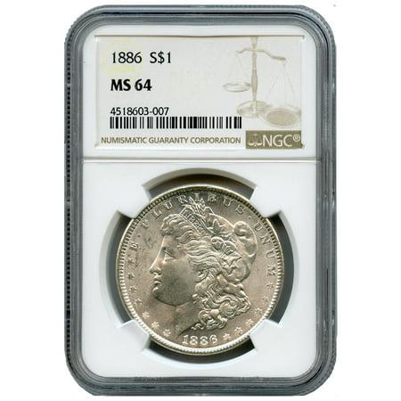 Pre-1921 Morgan Dollar NGC MS-64 90% Silver Coin ()