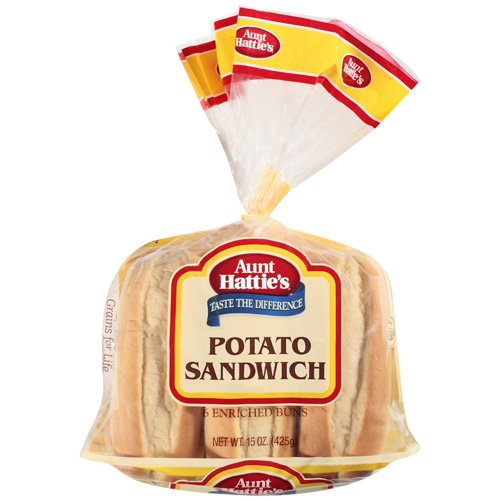Aunt Hattie's Potato Sandwich Enriched Buns, 15 oz