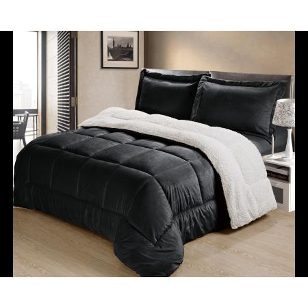 Ultra-Plush Sherpa Comforter & Shams