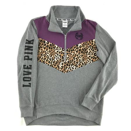 2329d33132c09 Victoria's Secret Pink High Low Half Zip Sweatshirt