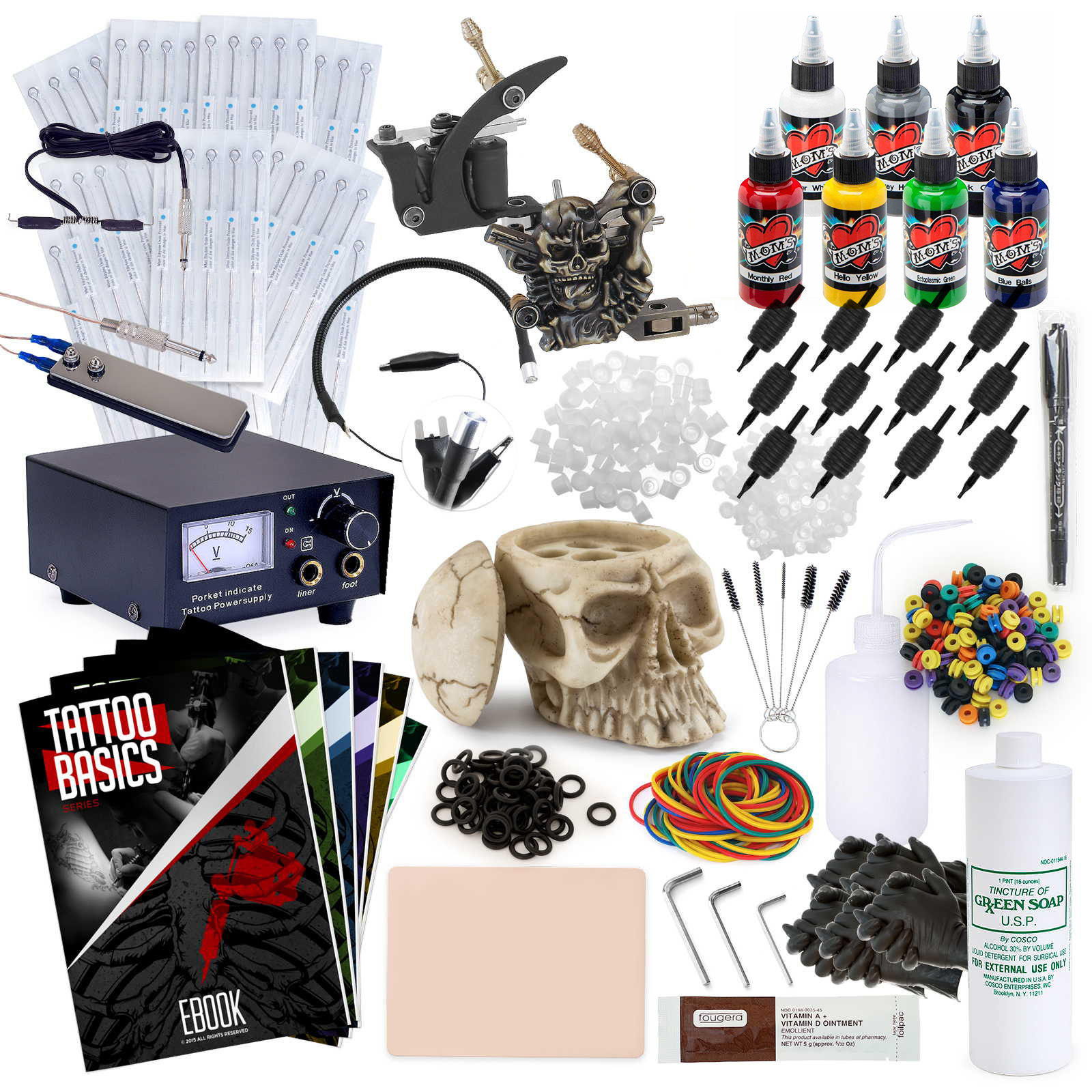 Rehab Ink Complete Tattoo Set w/ 2 Machines, Power Supply...