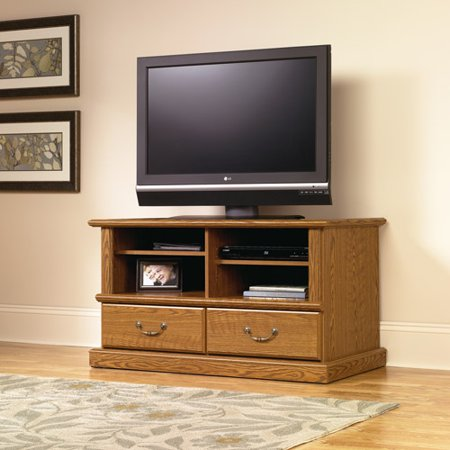 Sauder Orchard Hills Carolina Oak Universal TV Stand, for TVs up to 41″